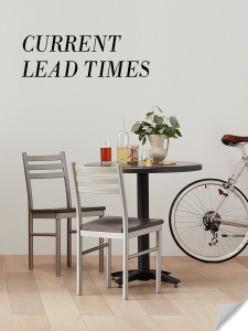 See current lead times for Grand Rapids Chair products.