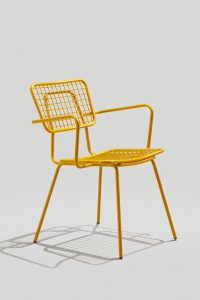 Opla Arm Chair in Honey Yellow