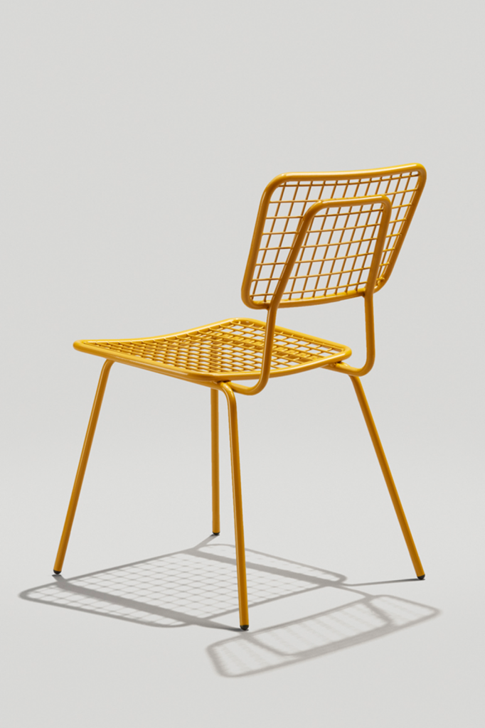 Opla Outdoor Chair in Honey Yellow Back