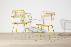 Opla Outdoor Chair in Zinc Yellow
