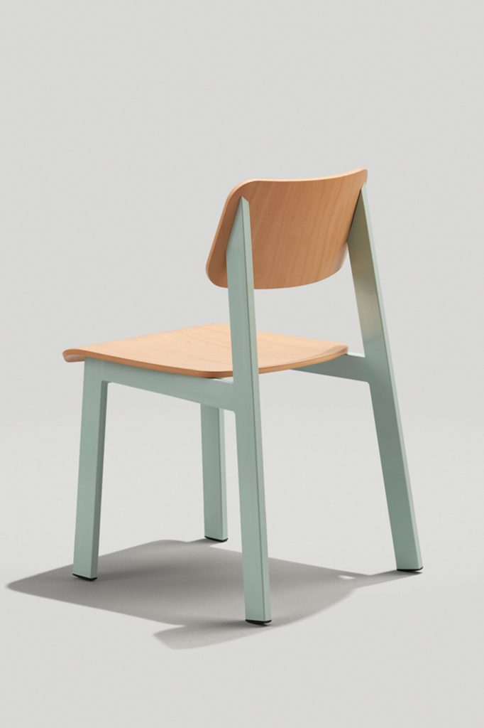 827 Sadie II Chair in Dusty Blue and Natural