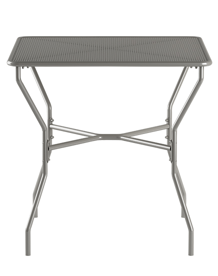 "30"" Square outdoor table, quick ship in alloy silver"