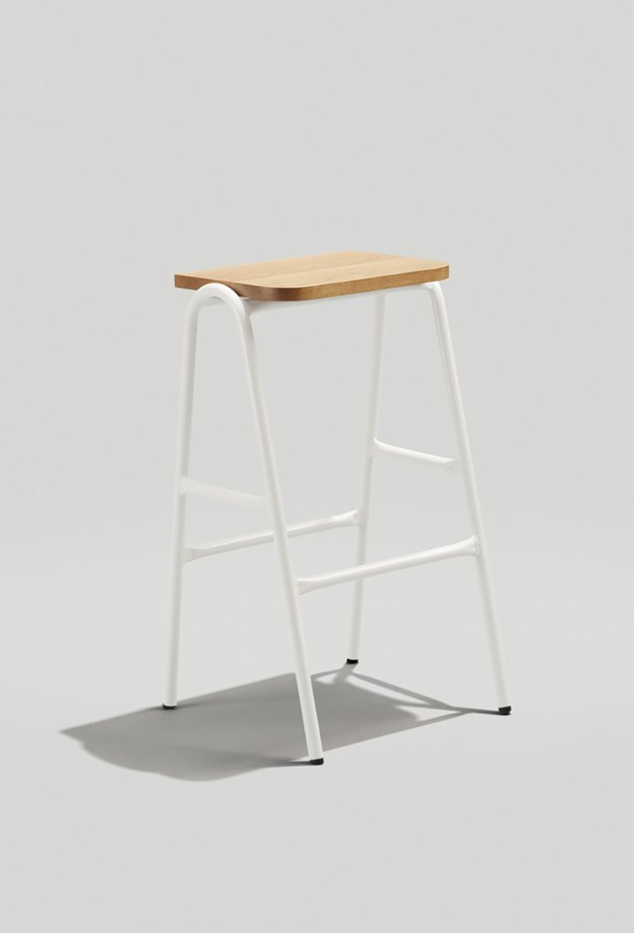Hurdle Barstool I Gloss White Back