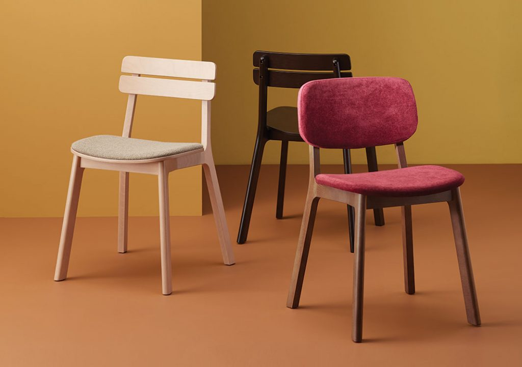 Brooke Chairs with Various Upholstery Options