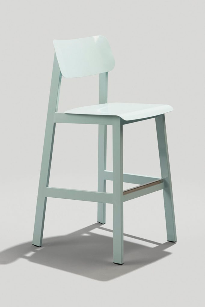 Sadie II Outdoor Barstool in Dusty Blue