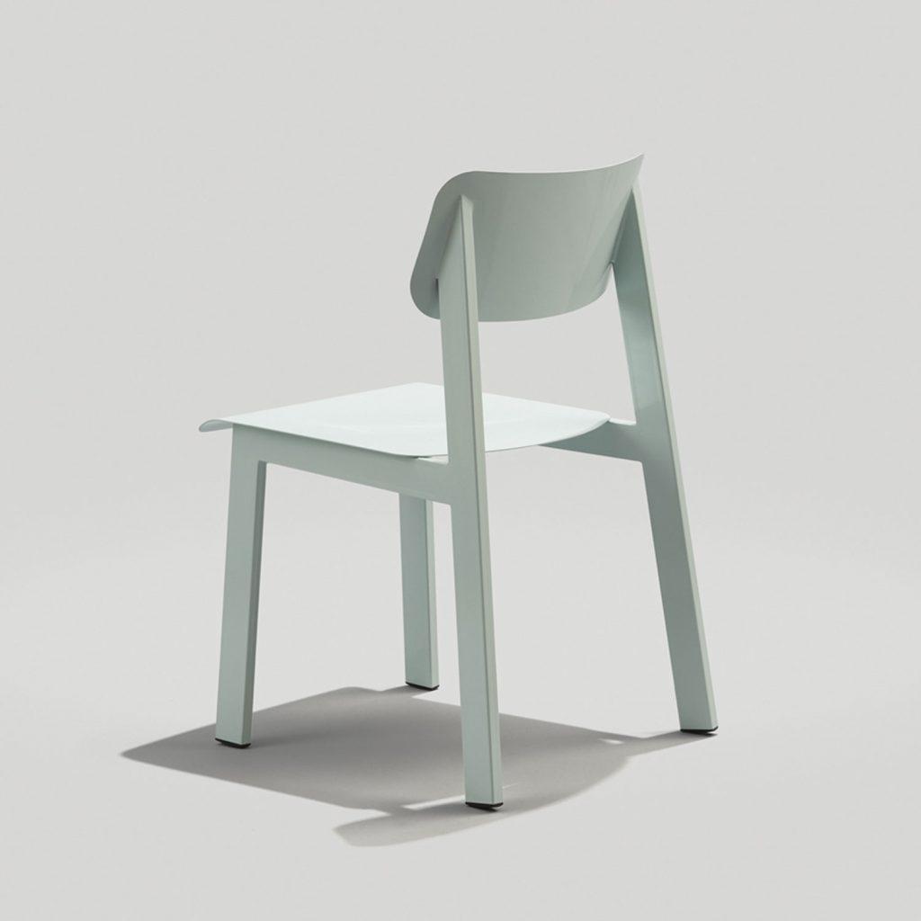 Back of Sadie II Outdoor Chair in Dusty Blue