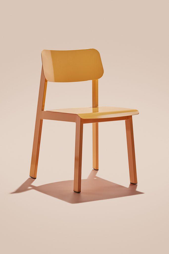 Modern outdoor chair, Sadie II in orange