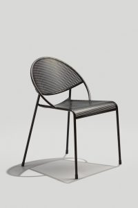 Hula Outdoor Stacking Chair in Ink Black