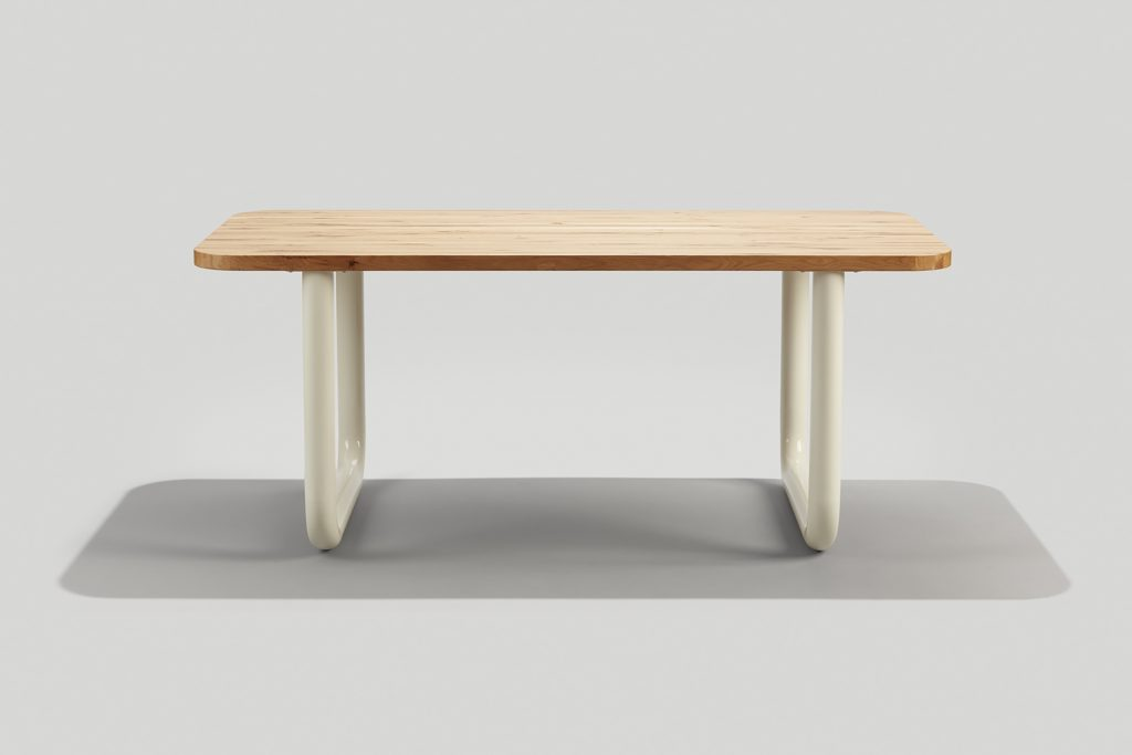 Frankie Communal Table in White Oak and White