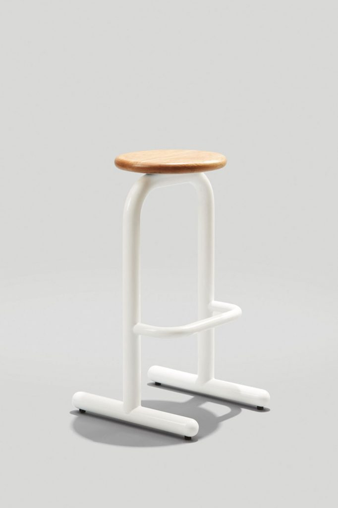 Sir Burly Barstool By Dowel Jones in Gloss White