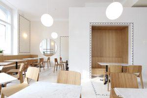 Modern Wood Dining Chair in White Oak