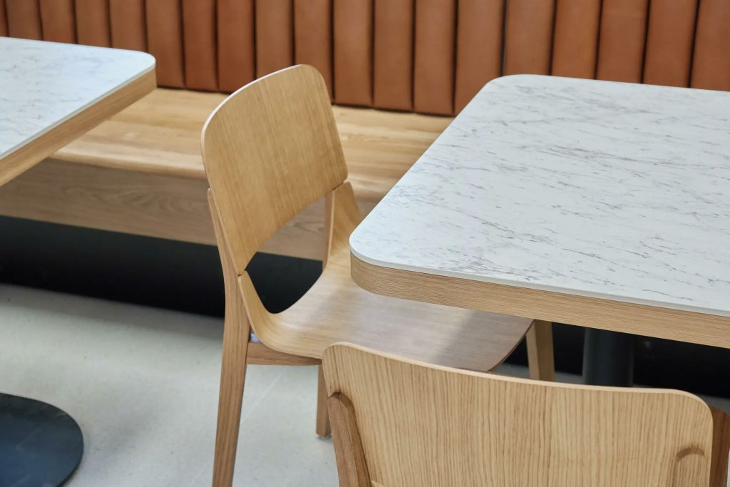 Modern Wood Dining Chair in White Oak