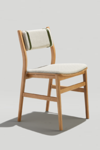 Modern Wood Dining Chair with upholstery