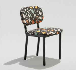Modern Mixed Material Dining Chair for Commercial Spaces and Restaurants